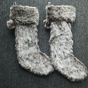 Nwot 2 faux fur christmas stocking